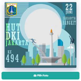 Bingkai Twibbon Perayaan Hari Ulang Tahun Kota Jakarta