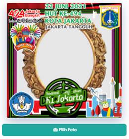 Desain Twibbon HUT Jakarta 2021