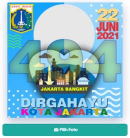 Twibbon HUT DKI Jakarta 2021 ke 494