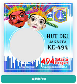 Twibbon Hari Jadi Kota Jakarta Tahun 2021