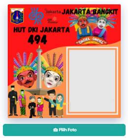 Twibbon Hari Ulang Tahun Jakarta Ke 494 Tahun 2021