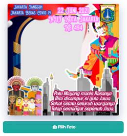 Twibbonize HUT DKI Jakarta ke 494